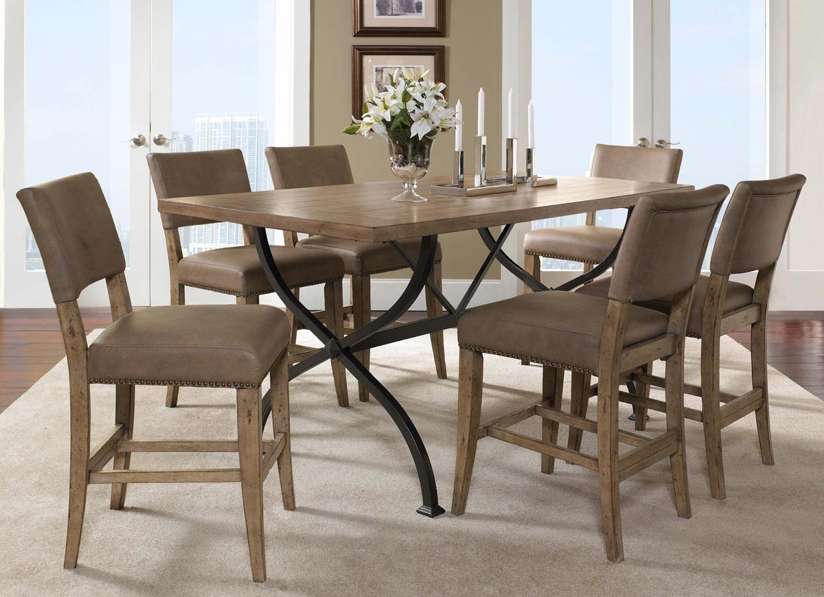 Counter Height Rectangular Dining Set : Hillsdale Charleston Rectangular Counter Height Dining Set With Parson ...