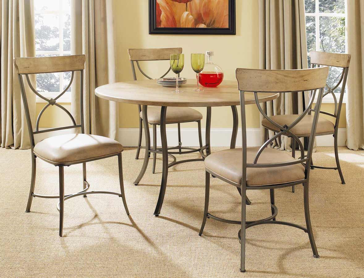Hillsdale Charleston Round Dining Set With X-Back Dining Chair
