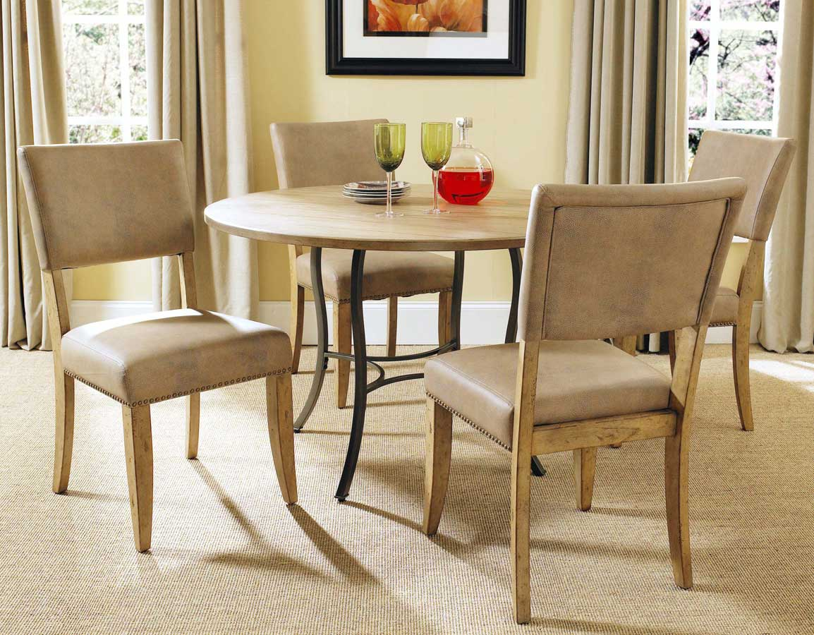 Hillsdale Charleston Round Dining Set With Parson Dining Chair