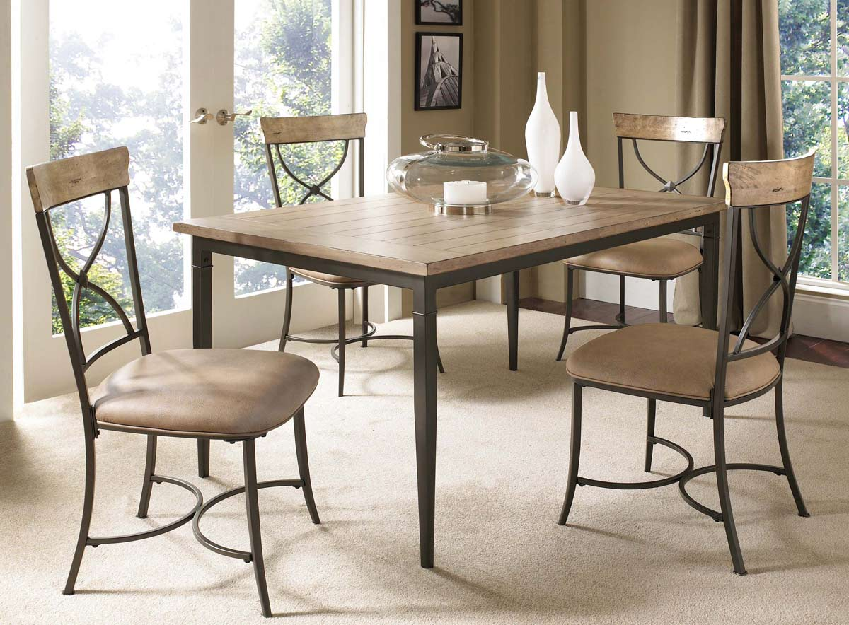 Hillsdale Charleston Rectangular Dining Set With X-Back Dining Chair