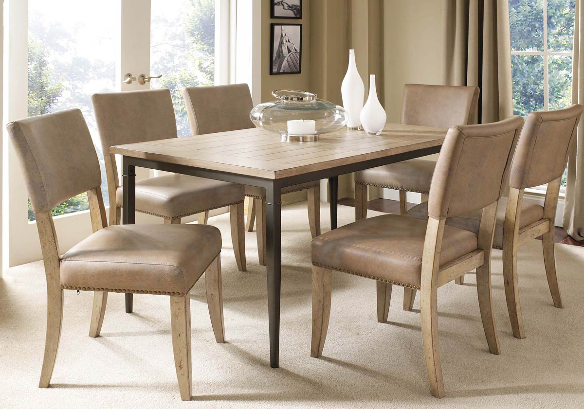 Hillsdale Charleston Rectangular Dining Set With Parson Dining Chair