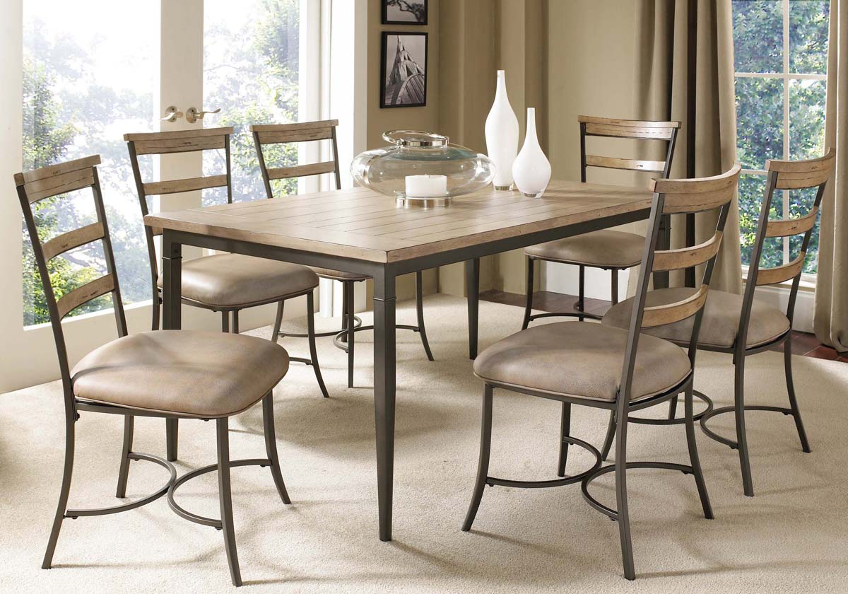 Hillsdale Charleston Rectangular Dining Set With Ladder Back Dining Chair