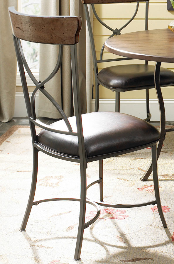 Hillsdale Cameron Round Dining Set With X-Back Dining Chair