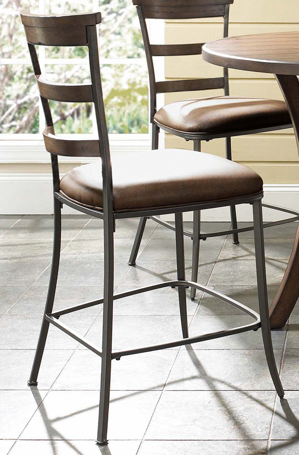 Hillsdale Cameron Counter Height Round Dining Set With Ladder Back Stool