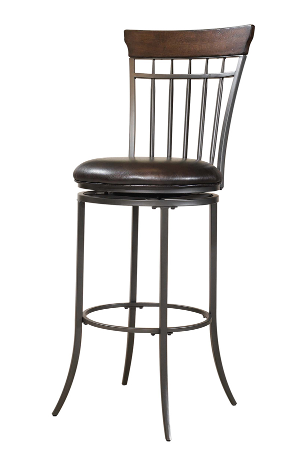 Hillsdale Cameron Vertical Spindle Back Swivel Bar Stool