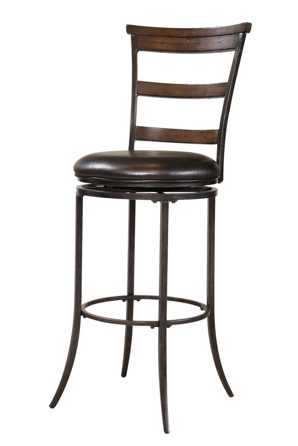 Hillsdale Cameron Ladder Back Swivel Bar Stool