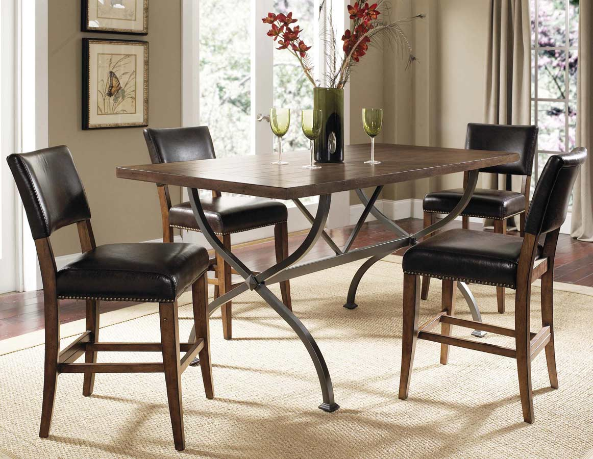 Hillsdale Cameron Rectangular Counter Height Dining Set With Parson Stool