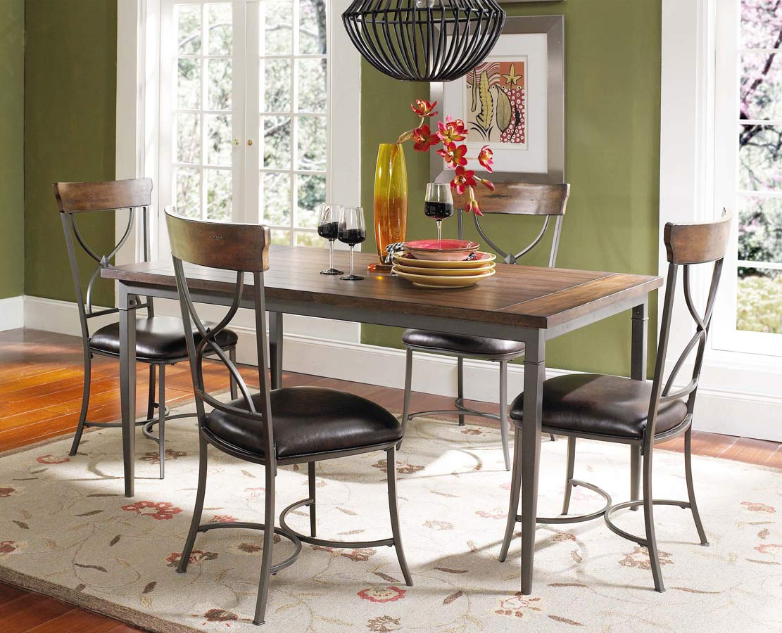 Hillsdale Cameron Rectangular Dining Set With X-Back Dining Chair