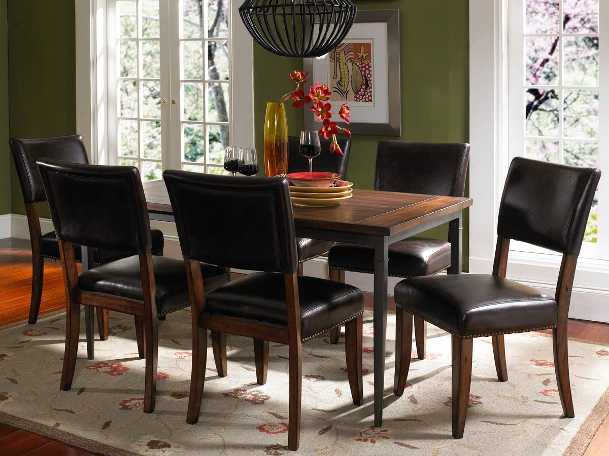 Hillsdale Cameron Rectangular Dining Set With Parson Dining Chair