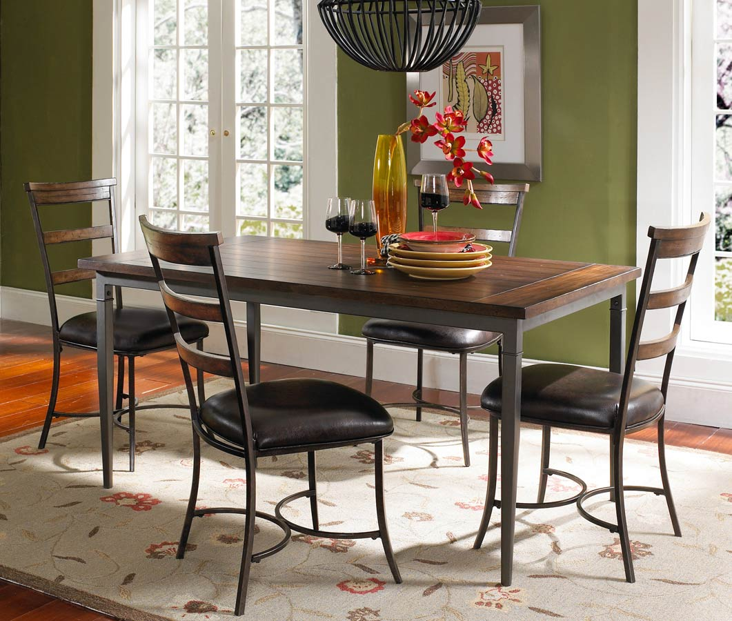 Hillsdale Cameron Rectangular Dining Set With Ladder Back Dining Chair