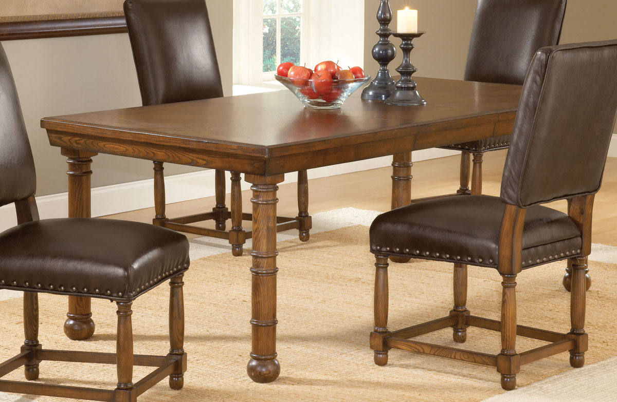 Hillsdale Hartland Dining Set A - Dark Oak