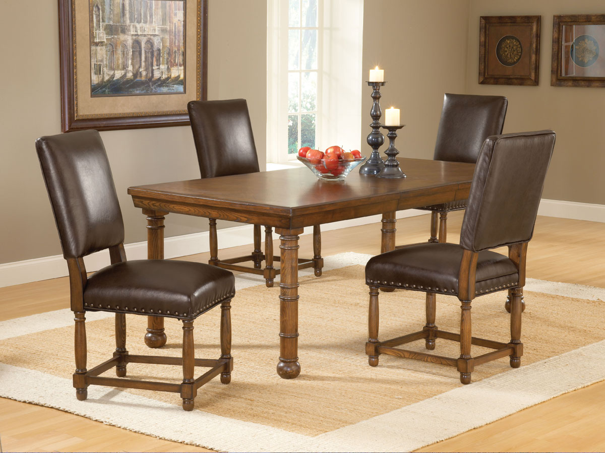 Hartland Dining Set A - Dark Oak - Hillsdale