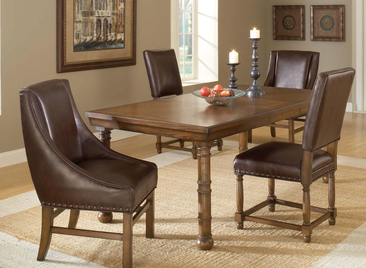 Hillsdale Hartland Dining Set B - Dark Oak