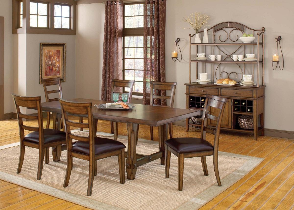 Hillsdale Villagio 7-Piece Dining Set - Dark Chestnut