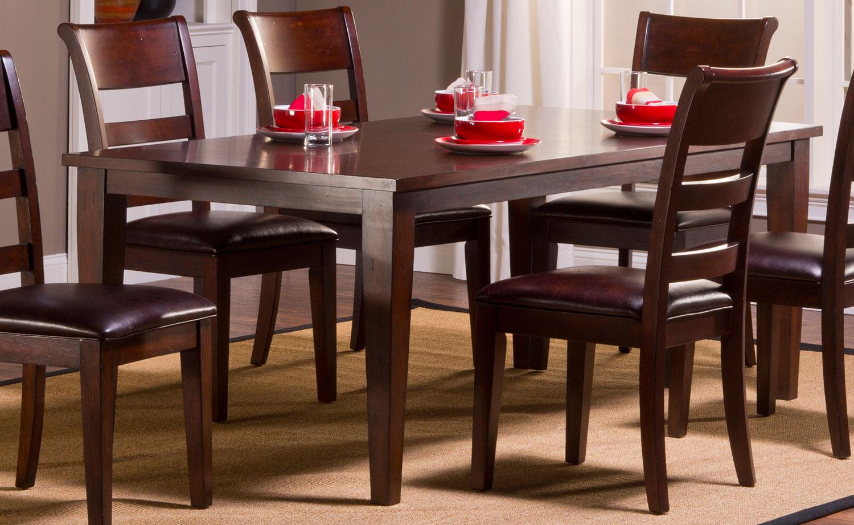Hillsdale Park Avenue Dining Leg Table - Dark Cherry