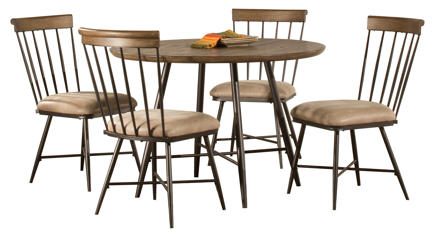 Hillsdale Forest Hill 5-Piece Round Dining Set - Brown