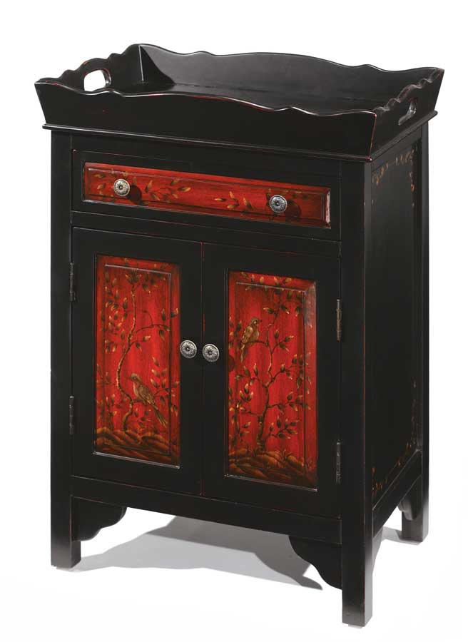 Hillsdale Asian Fusion Cabinet with Removable Tray Top