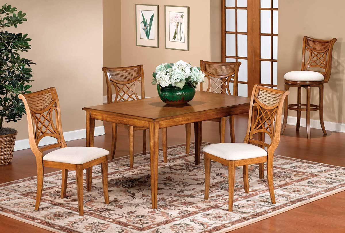 Hillsdale Glenmary Retangular Dining Collection - Oak