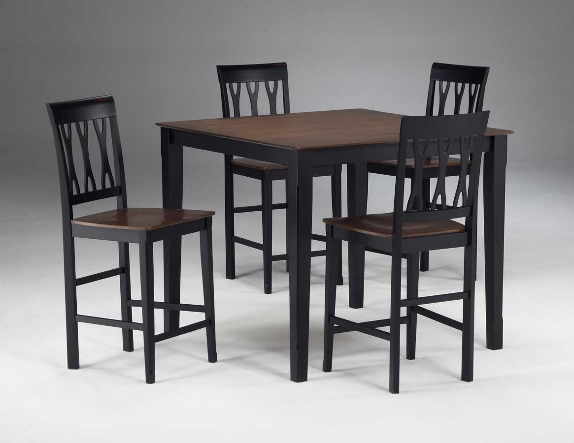 Cheap Hillsdale Furniture Riverview 5-pc Counter Height Table Set – Ribbon Back