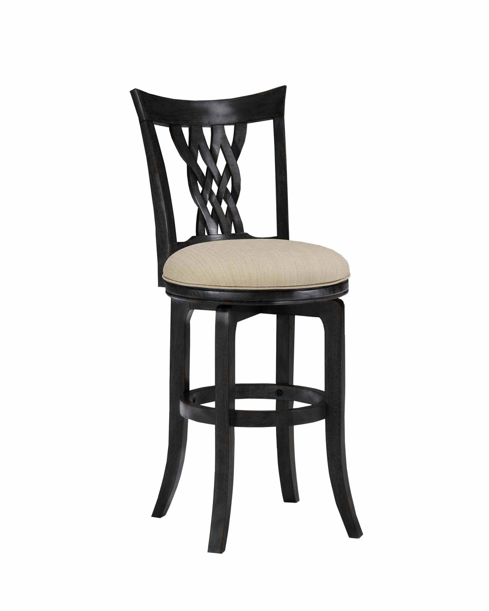 Hillsdale Embassy Swivel Counter Stool - Rubbed Black