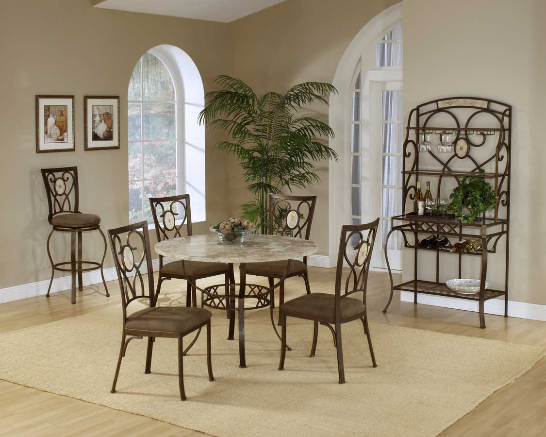 Hillsdale Brookside Round Dining Collection - Oval Back