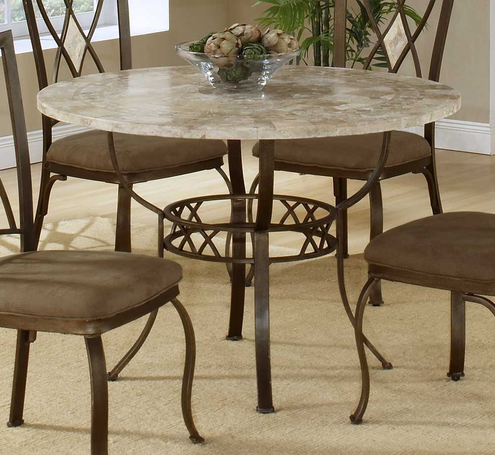 Hillsdale Brookside Round Dining Collection Oval Caster