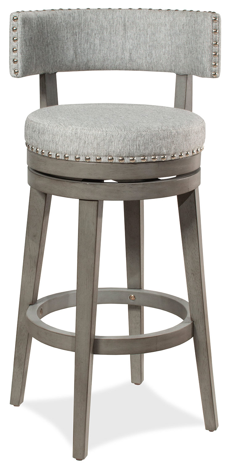 Hillsdale Lawton Swivel Counter Stool - Antique Gray