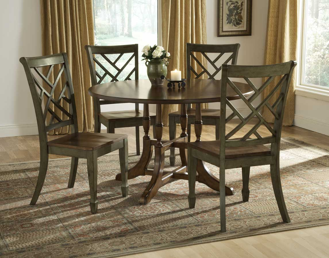 Hillsdale Garden Back Dining Collection - Antique Green