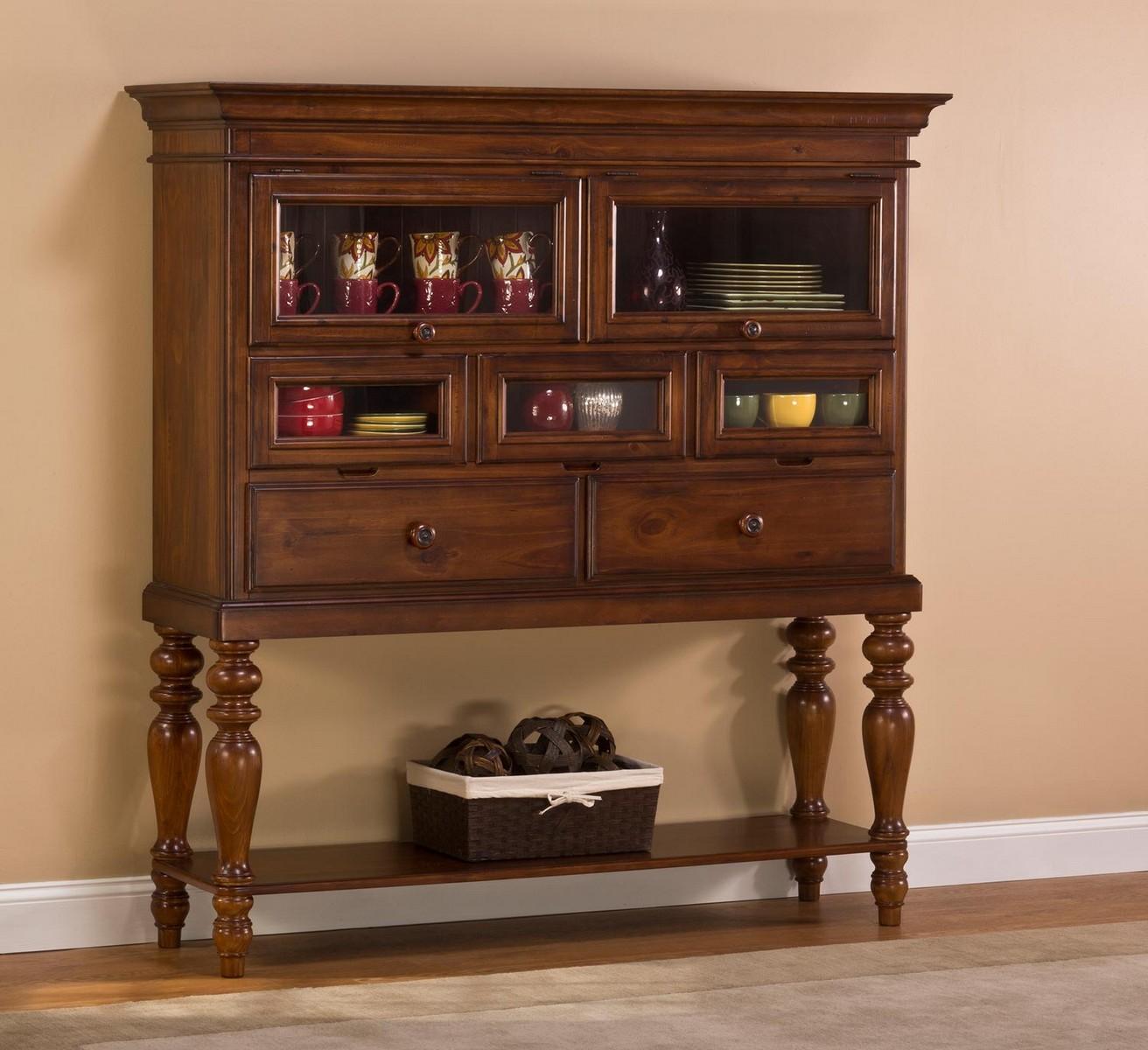 Hillsdale Pine Island Sideboard Cabinet - Dark Pine