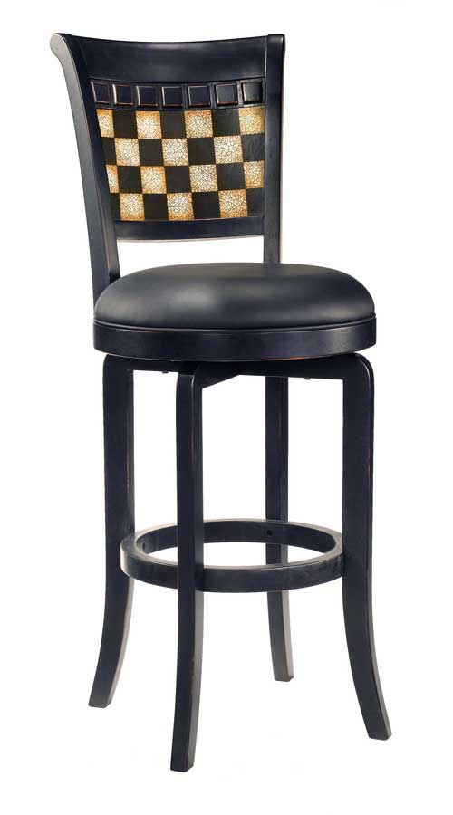 Cheap Hillsdale Furniture Baxter Swivel Wood Counter Stool with Vinyl