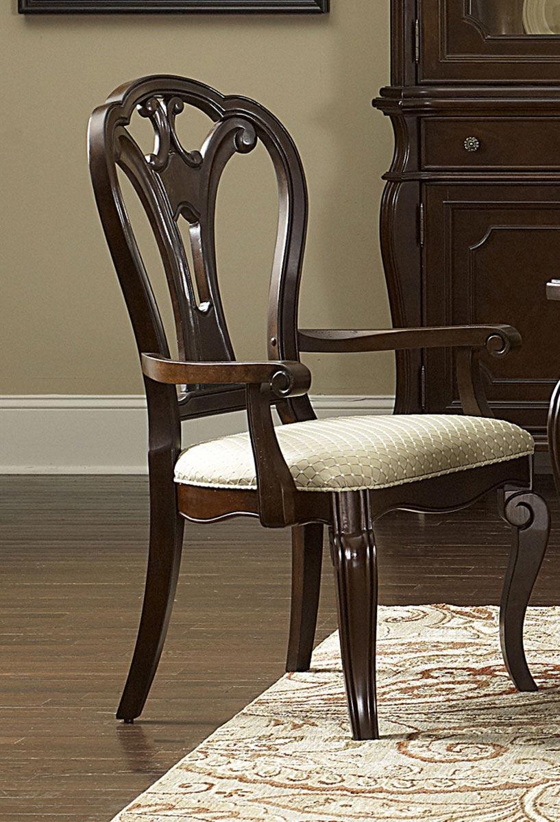 Hillsdale Grandover Arm Chair - Dark Cherry