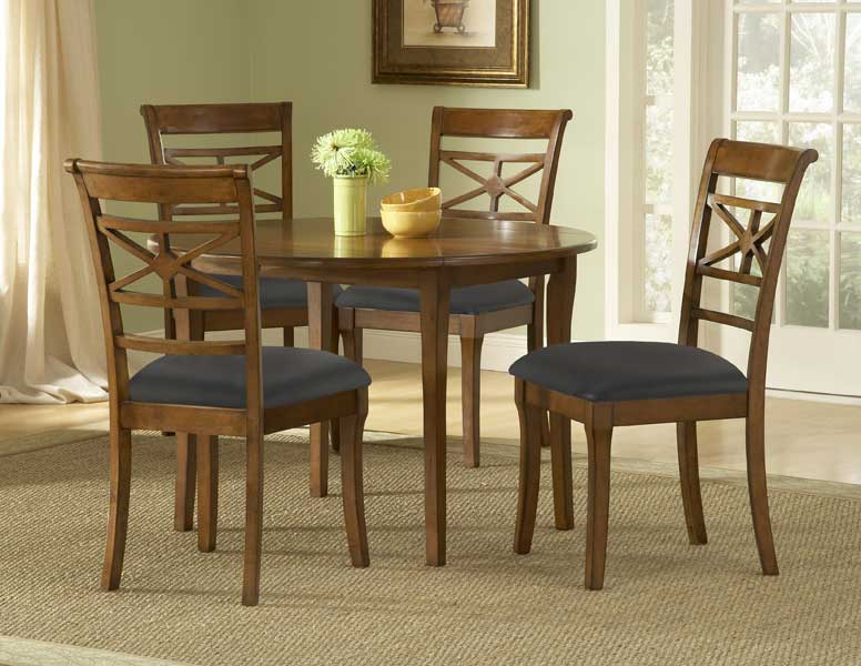 Hillsdale Kingstown Round Dining Set With Drop Leaf