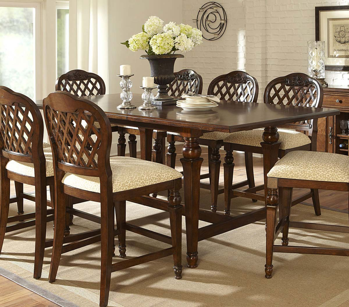 Counter Height Gathering Table With Storage : 4155DTBG Tabacon Counter Height Gathering Table With Wine Storage ...