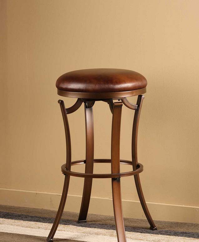 Hillsdale Kelford Backless Swivel Counter Stool - Antique Bronze