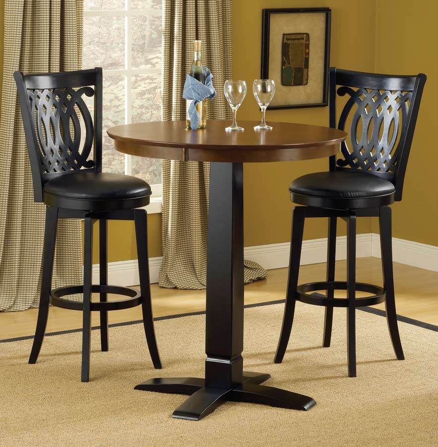 Dynamic Designs Pub Table-Brown-Black - Hillsdale