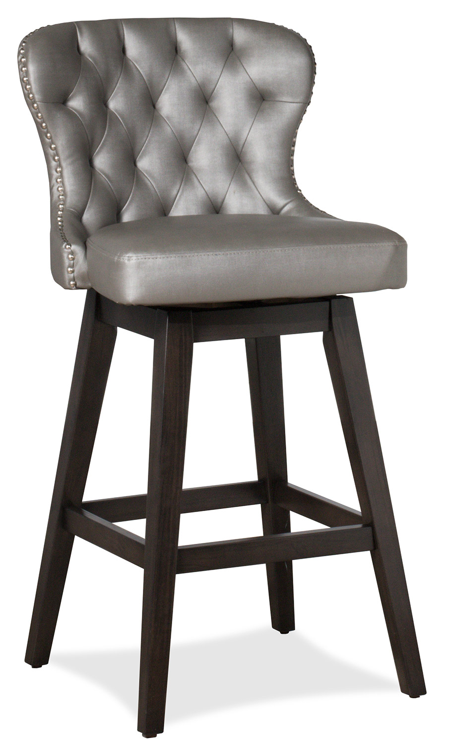 Hillsdale Rosabella Swivel Counter Stool - Charcoal