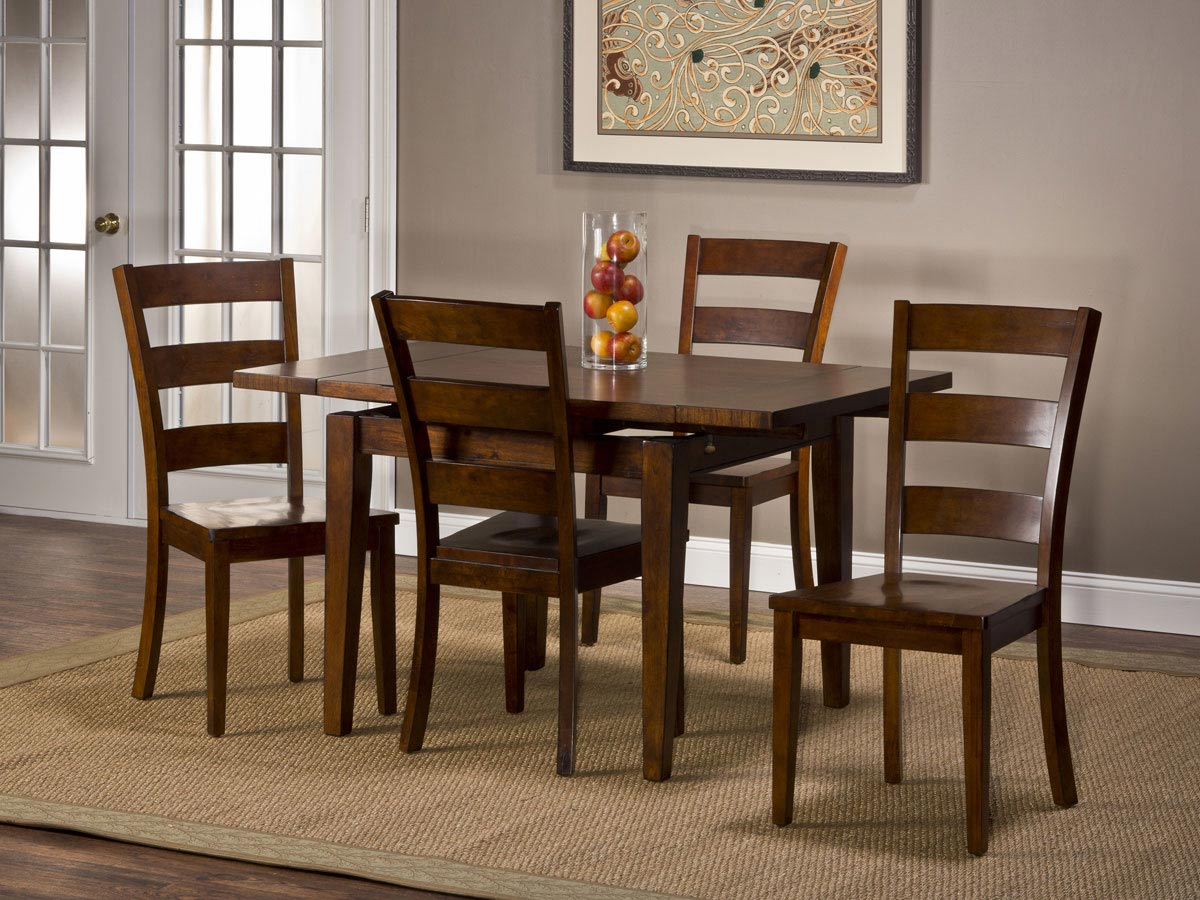 Hillsdale Harrods Creek 5 Piece Dining Set - Medium Brown Oak