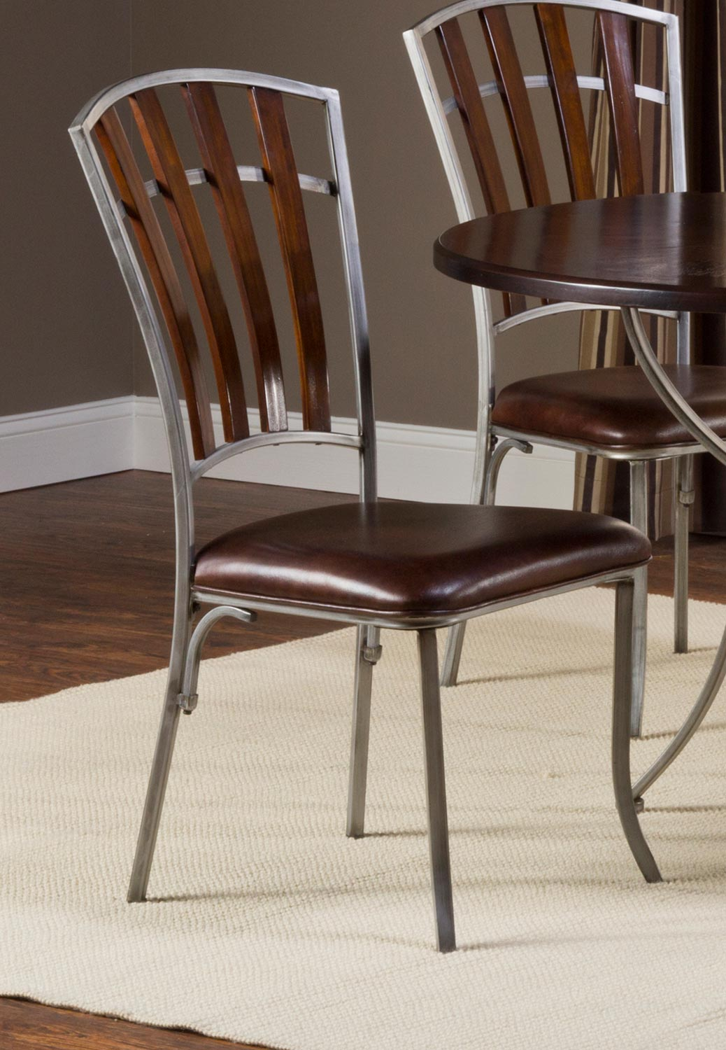 Hillsdale Sarasota Dining Chairs - Dark Walnut