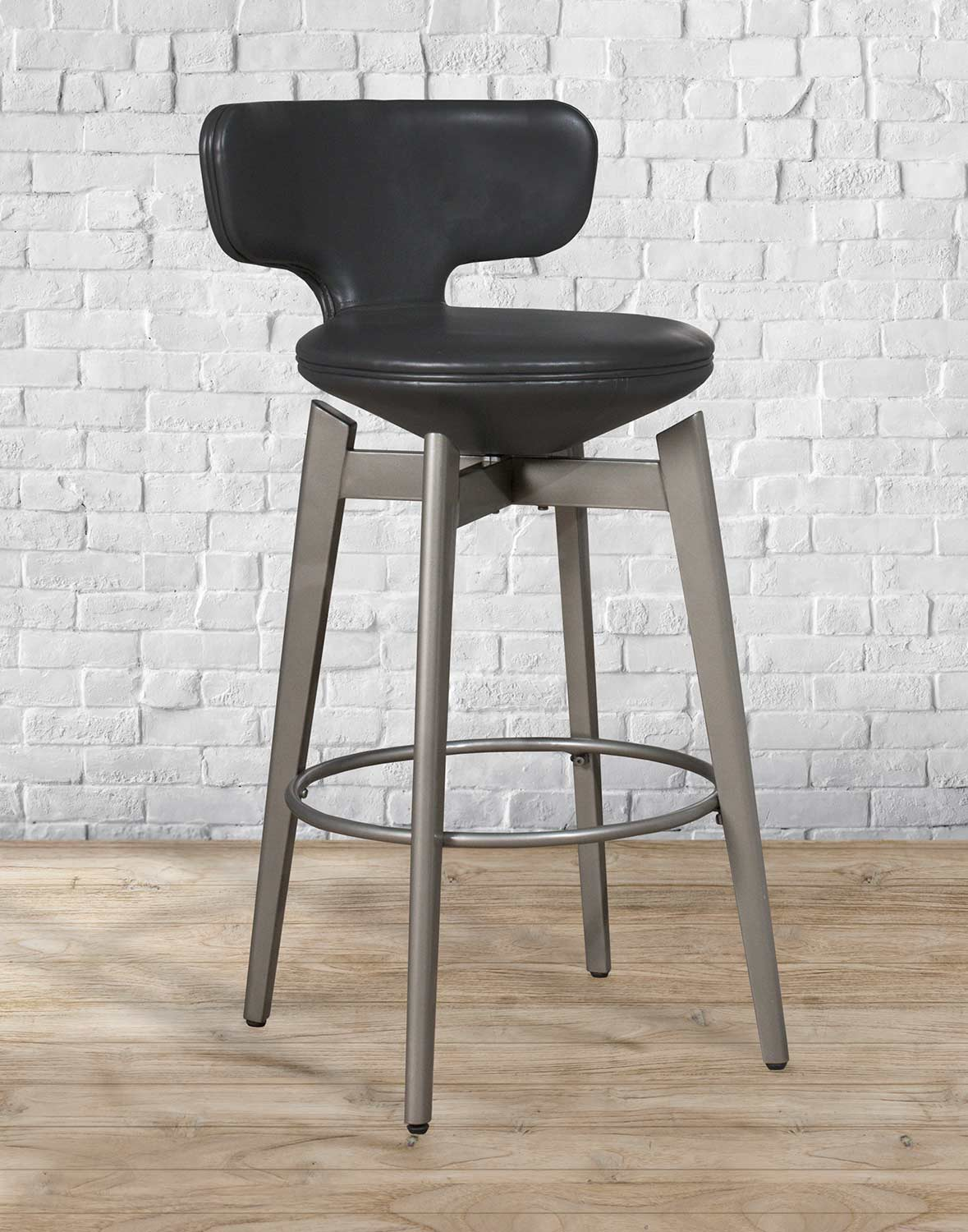 Hillsdale Genesis Swivel Counter Stool - Pewter