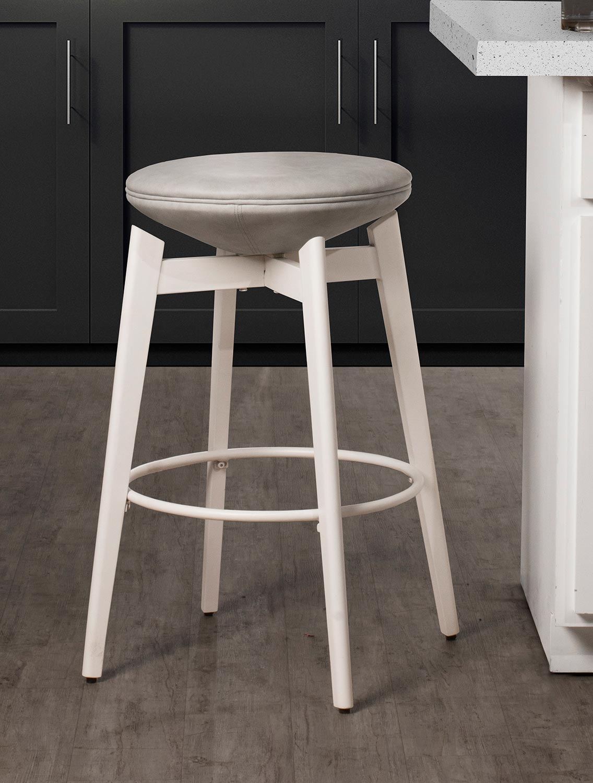 Hillsdale Genesis Backless Swivel Counter Stool - White
