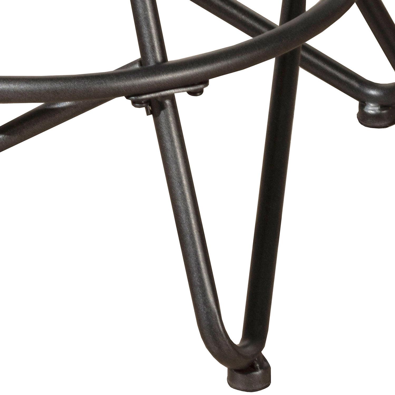 Hillsdale Stella Industrial Backless Metal Swivel Adjustable Height Stool - Gray
