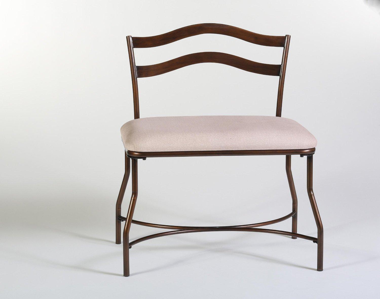 Hillsdale Windsor Vanity Bench - Burnished Bronze
