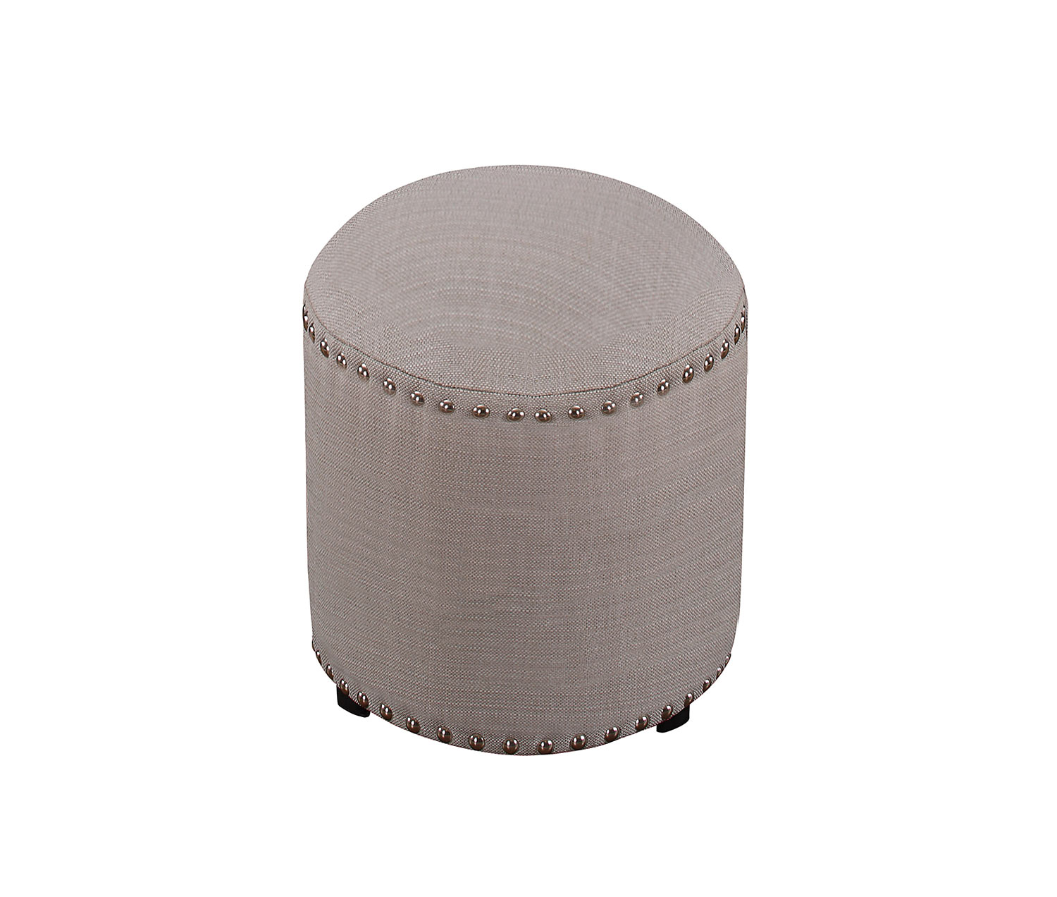 Hillsdale Laura Backless Vanity Stool - Gray Fabric