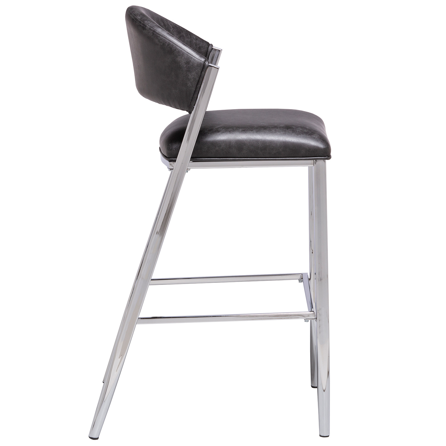 Hillsdale Molina Bar Height Stool - Chrome