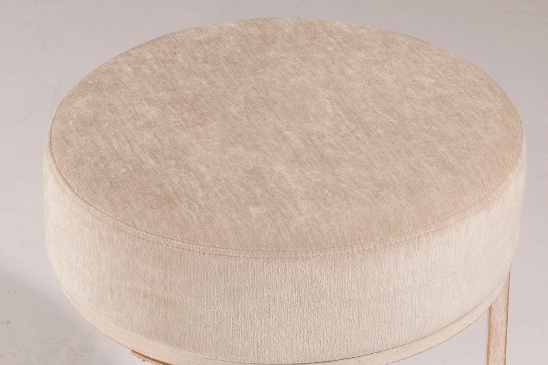 Hillsdale Swanson Vanity Stool White Bone Fabric Hd