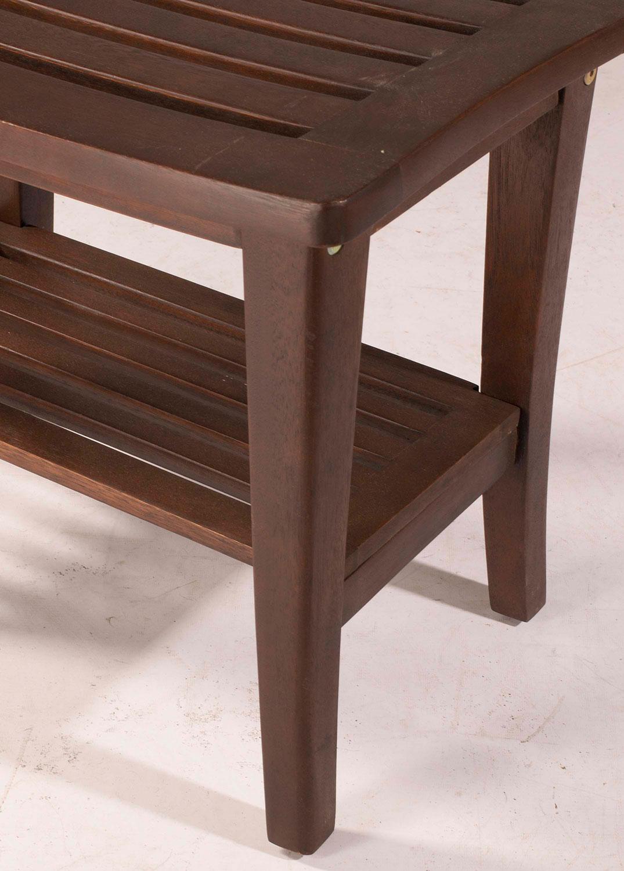 Hillsdale Preston Rectangle Vanity Stool - Walnut