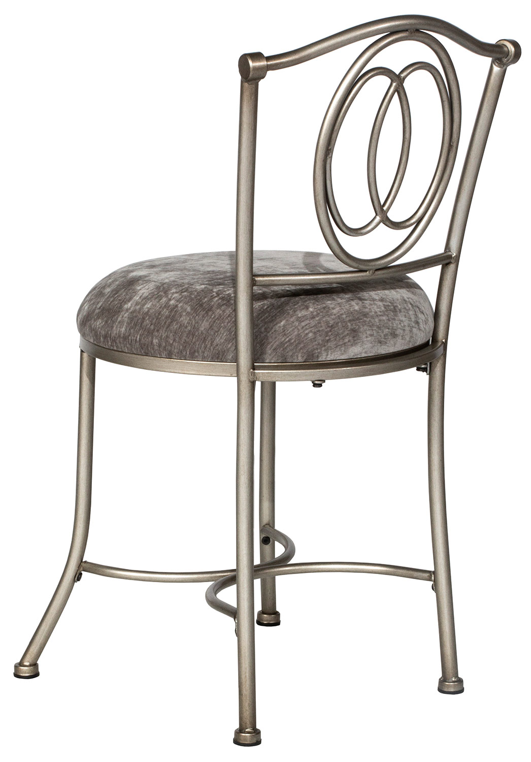 Hillsdale Emerson Vanity Stool - Pewter