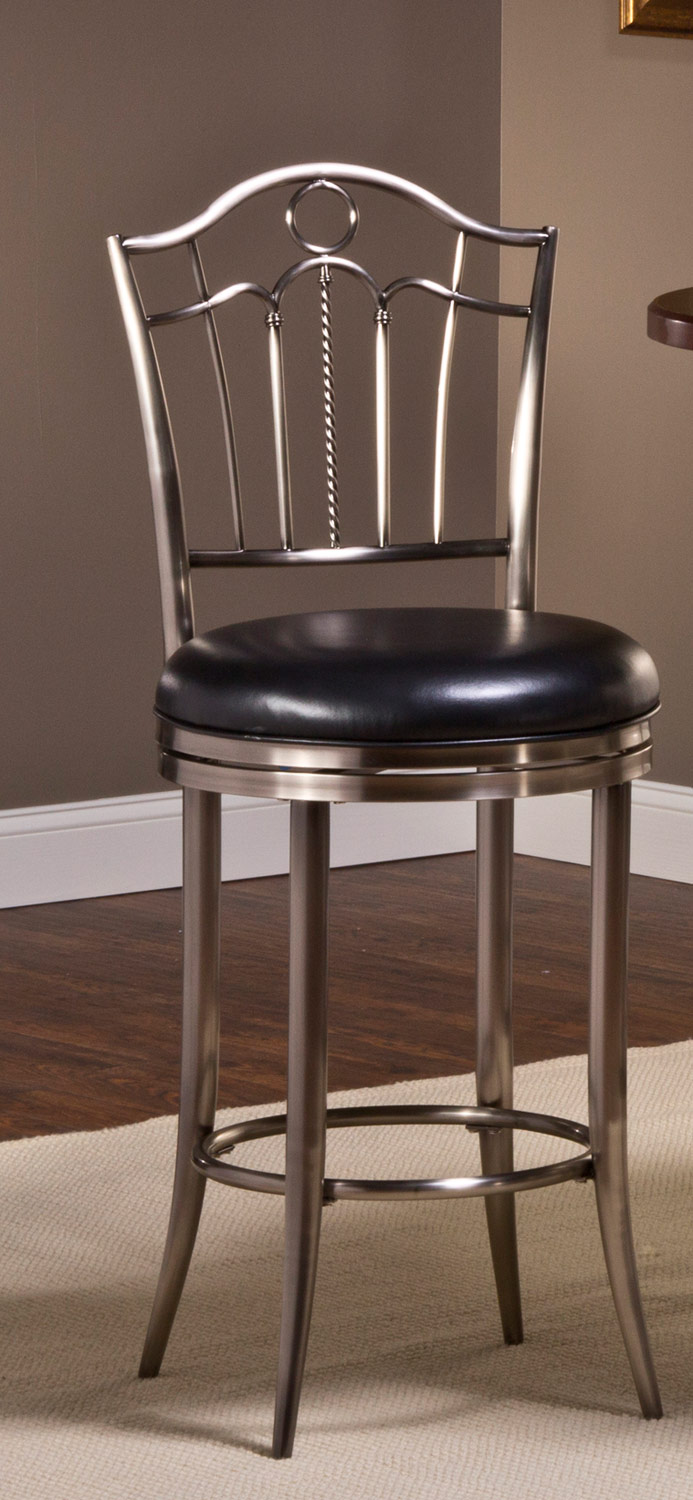 Hillsdale Portland Swivel Bar Stool - Antique Nickel