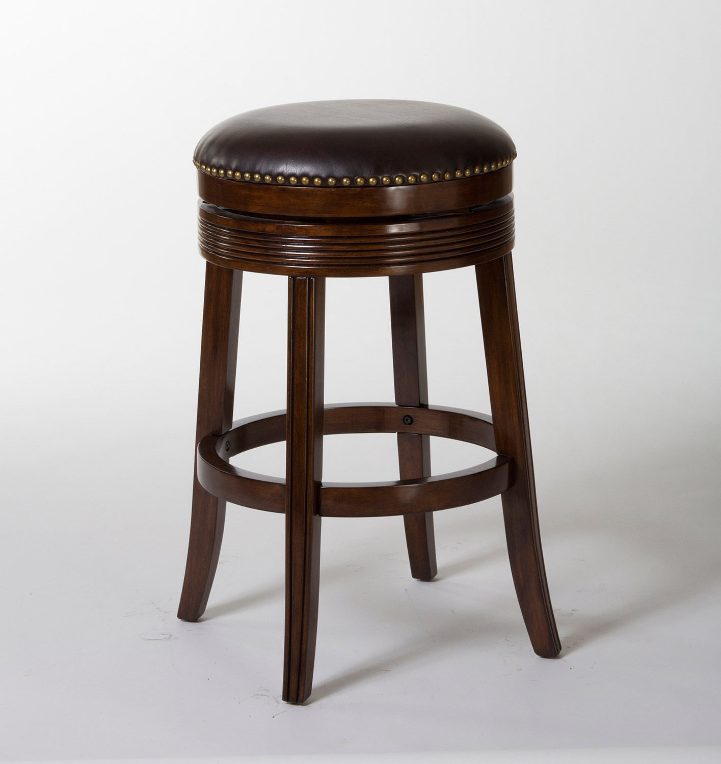 Hillsdale Tillman Backless Swivel Counter Stool - Espresso/Dark Brown PU