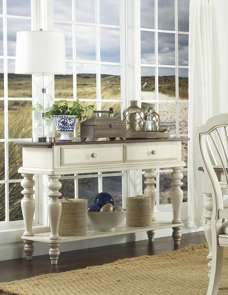 Hillsdale Pine Island Sideboard - Old White
